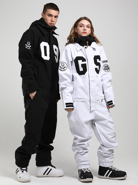 15k Waterproof Women's One Piece Snowboard Suits Winter Young Fashion