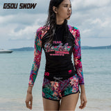 Gsou Snow Women's Fashion Printed Casual Quick-drying Beach Shorts Front