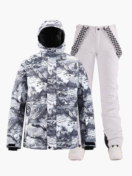 15K Windproof & Waterproof Tooling Style Fashion Ski and Snowboard Suit