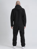 Men's One Picece Snowboard Waterproof Night Black Ski Suits