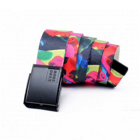 Gsou Snow Unisex Webbing Belts Colorful Modern Nylon Outdoor Belt