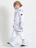 Gsou Snow White One Piece Kids Snowboard Suit