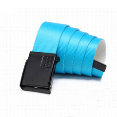 Gsou Snow Nylon Web Belt Black Buckle Fashion Style Belts