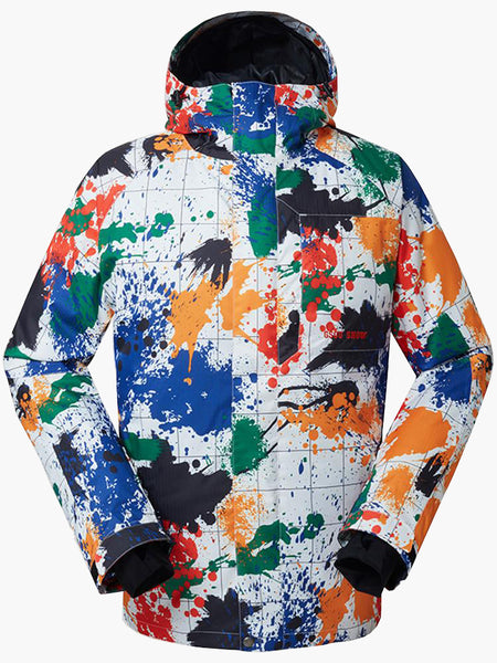 10K Windproof & Waterproof Ski Jacket and Pants Set Snow Suit Colorful Printed Ski and Snowboard Suit