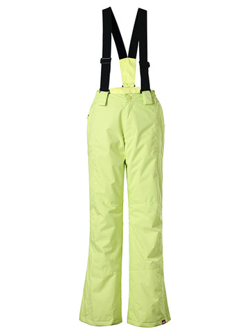 Gsou Snow Kids Windproof Yellow Ski Hiking Suspender Snowboard Pants