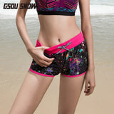 Gsou Snow Fashion Printed Quick-Drying Beach Shorts For Womens