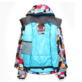 Gsou Snow Brand Womens Colorful Ski Jacket Waterproof Snowboard Jacket Inside