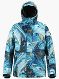 15K Windproof & Waterproof Marbled Style Fashion Ski and Snowboard Suit