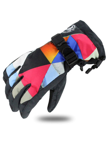 Gsou Snow Snowboard Gloves Winter Warm Ski Gloves for Outdoor Sports Skiing Sledding Windproof