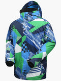 10K Windproof & Waterproof  Blue-green Fashion Ski Jacket and Pants Set Snow Suit Ski and Snowboard Suit