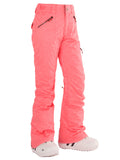 Gsou Snow Rose Pink Thermal Warm Waterproof Windproof Women's Ski Pants/Snow Pants