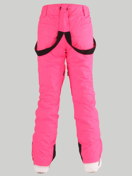 Gsou Snow Pink Thermal Warm High Waterproof Windproof Women's Snowboard/Ski Pants