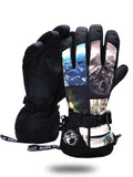 Gsou Snow Winter Snow Skiing Gloves Men's Waterproof Warm Equipment Cycling Motorcycle Cold-resistant Skating Thick Antifreeze Gloves