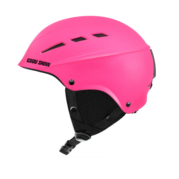 GsouSnow children's pink ski helmet boys and girls single-board double-board outdoor ski protective gear warm and breathable helmet
