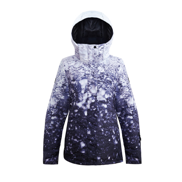 Water Drops Women Waterproof Snowboard Jacket White Pants Sets Ski Suits