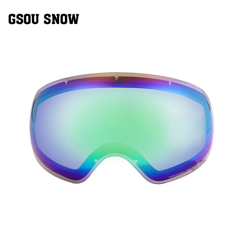 63f6ebc3a49 Gsou Snow Ski Goggles with UV Protection Anti-fog Spherical Replacement Lens