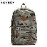 Gsou Snow Camouflage Outdoor Backpack Rucksacks for Camping Hiking and Trekking Waterproof