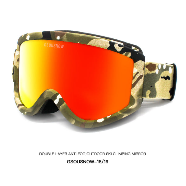 Gsou Snow Ski Goggles Windproof UV Motorcycle Snowmobile Goggles