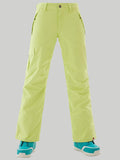 Gsou Snow Green Thermal Warm Waterproof Windproof Womens Snowboard & Ski Pants