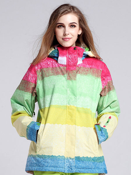 Womens Ski Jacket 10K Windproof and Waterproof Snowboard Jacket,Machine washable