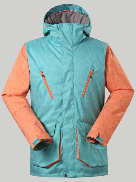 Men's Waterproof&Windproof Snowboard Jacket Ski Jacket Warm Clothing Multiple pockets