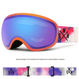 Ski goggles adult double-layer windproof anti-fog mountaineering equipment Cocker myopia snow goggles men and women ski goggles goggles