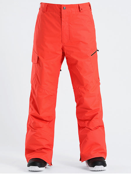 Gsou Snow Men's High Windproof Waterproof Black Ski Snowboarding Pants