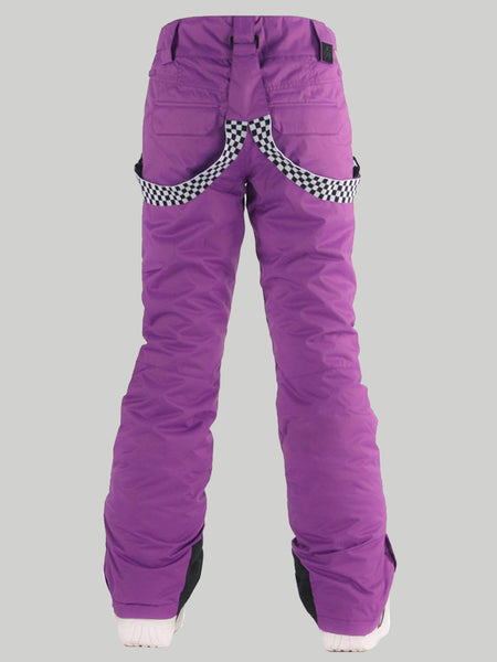 Gsou Snow Highland Bib Snowboard & Ski Purple Pants For Women