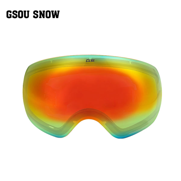 Gsou Snow Ski Goggles with Detachable Mirrored Anti Fog Replacement Lens
