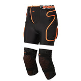 Gsou Snow Ski Snowboard Protective Shorts with plastic hip and tailbone pads