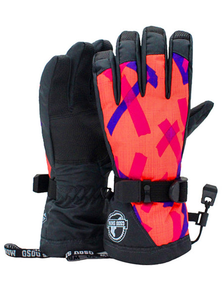 Gsou Snow Ski Gloves Winter Warmest Waterproof and Breathable Snow Gloves for Women's
