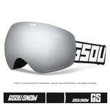 Gsou Snow Kid's Ski Goggles For Snowboard Snowmobile Skate Anti Fog UV Protection OTG Over Glasses