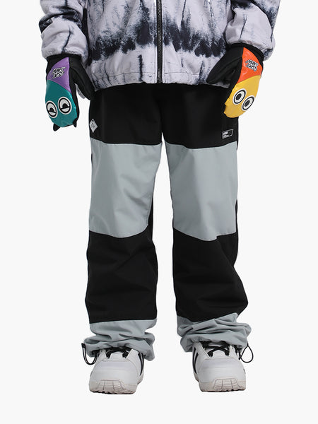Unisex 2021 Tide Brand Waterproof And Warm Color Matching Ski Pants
