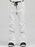 Women's New Fashion Winter Waterproof White Ski Snowboard Pants