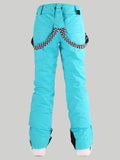Gsou Snow Highland Bib Snowboard & Ski Cyan Pants For Women