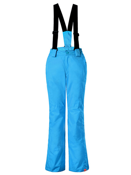 Gsou Snow Kids Windproof Royal Blue Ski Hiking Suspender Snowboard Pants
