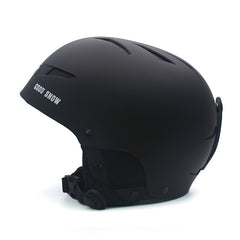 Gsou Snow Black color Ski Helmet, Integrally Lightweight EPS Snowboard Ski Riding Protective Gear