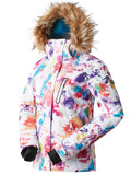 Womens Winter Snowboard Jacket.Environmentally friendly degradable fabric.10K Waterproof/10K Breathable . Product is machine washable.YKK® Zip
