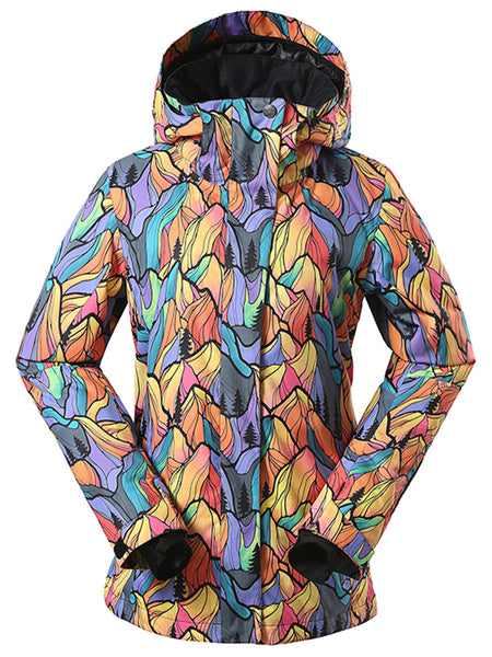 Colorful 10K Waterproof Windproof Thermal Colorful Women's Ski Jackets