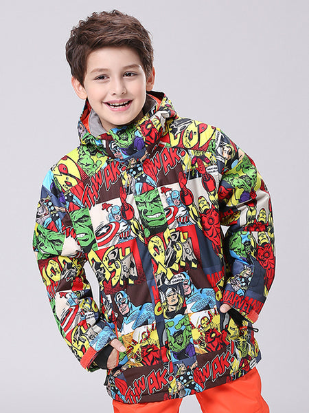 Kids Colorful High 10K Waterproof Windproof Ski Snowboard Jackets