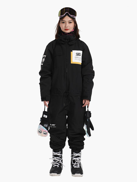 Unisex New Product Single And Double Board Thick Warm Winter Plus Size One-Piece Ski Suit