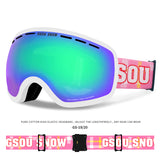 Gsou Snow Ski Goggles,Winter Snow Sports Snowboard Goggles with Anti-fog UV Protection