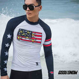Gsou Snow Men's Long Sleeve Quick-drying Swimsuit Wetsuit Surf Suit
