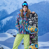 Gsou Snow Brand Women Fur Hooded Snowboard Jacket Skiing Jacket Online