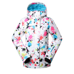 Gsou Snow High Waterproof Windproof Thermal Warm Colorful Women's Ski Jackets Front