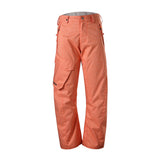 Gsou Snow Men's Windproof Waterproof Orange Snowboard Ski Pants Front