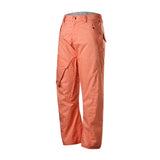 Gsou Snow Men's Windproof Waterproof Orange Snowboard Ski Pants Slid