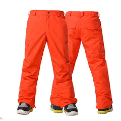 Gsou Snow Mens Ski Snowboard Pants Winter Windproof Waterproof Snow Pants Front Back