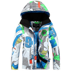 Gsou Snow Outdoor Kids Windproof Waterproof Skiing Down Jackets Snowboard Jackets Front