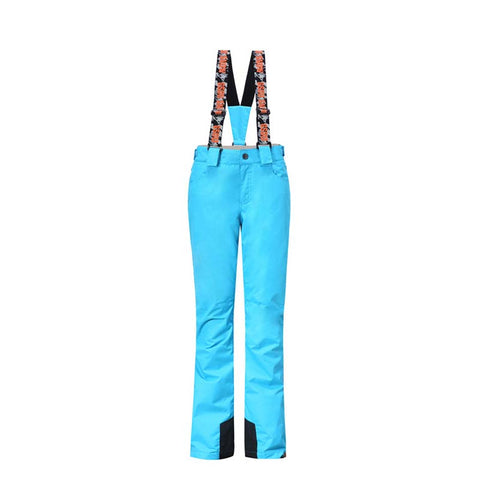 Gsou Snow Sky Blue Thermal Warm High Waterproof Windproof Women's Snowboard/Snow Pants Front